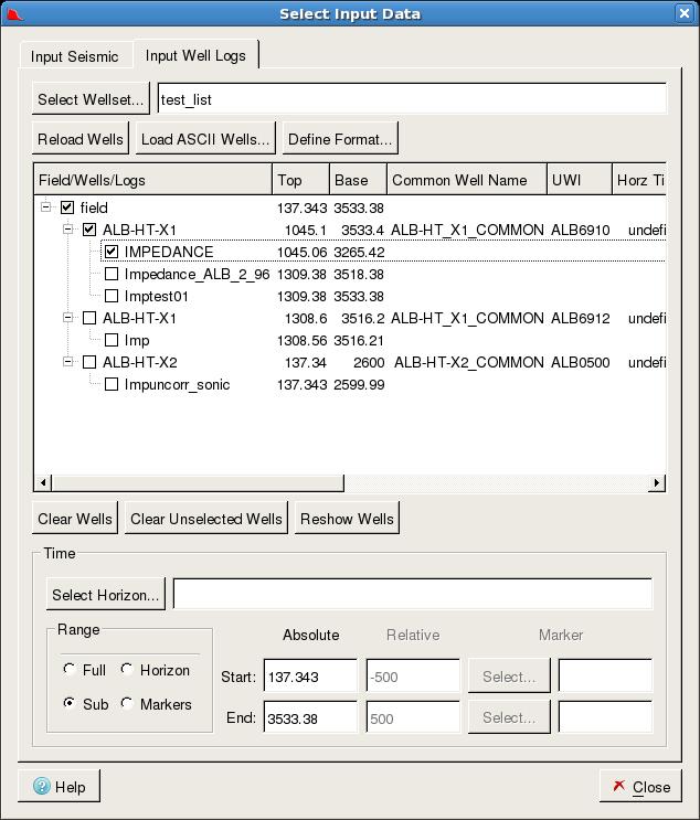 3  Select Input Data